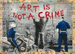 Art Is Not a Crime by Mr. Brainwash - Unique sized 30x22 inches. Available from Whitewall Galleries